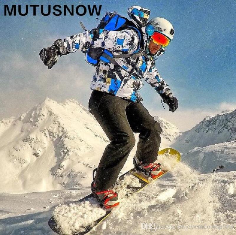 تزلج بدلة رجالية شتاء جديد في الهواء الطلق مقاوم للماء صامد للريح الحرارية سروال سنو ذكر التزلج على الجليد مجموعة الدعاوى سترة تزلج الرجال سترة + سروال