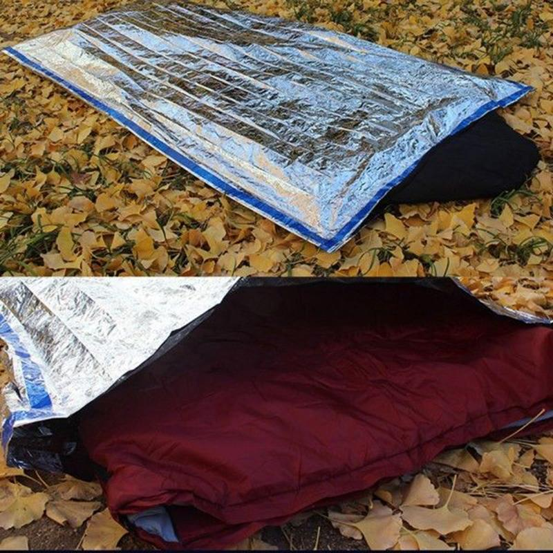 Portable Outdoor Camping Survival Rescue Thermal Emergency Sleeping Bag First Aid Blanket Waterproof Foil Rescue Blanket