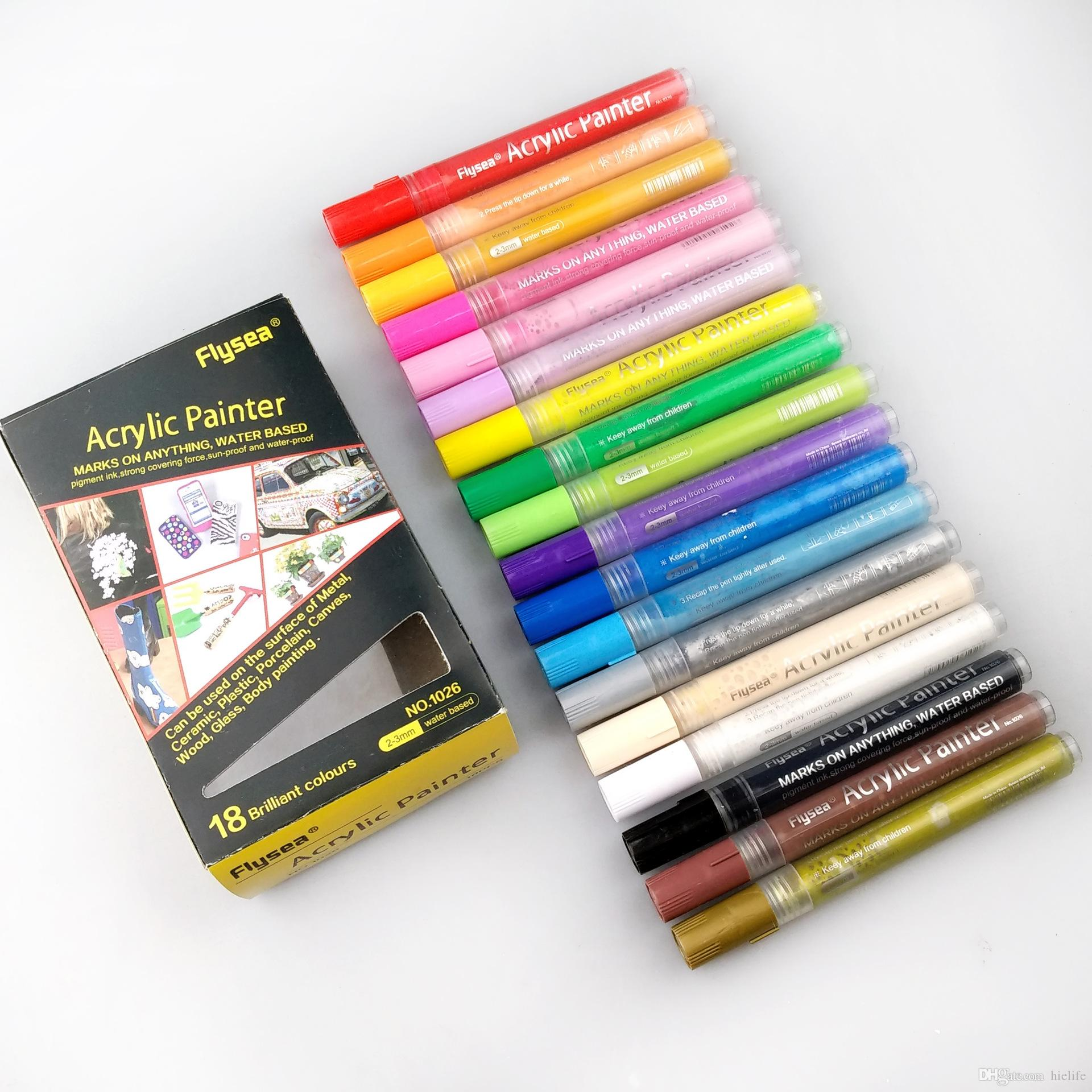 Bright /& Colorful Acrylic Painter Marker Pen For Craft Scrapbook White