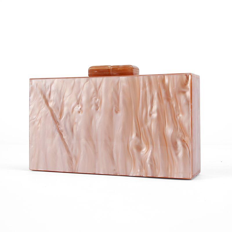 Pearl Nude Brush Acrylic Purse Box Clutch Handbags Women Bgas Messenger Beach Travel Summer Acrylic Hand Bags