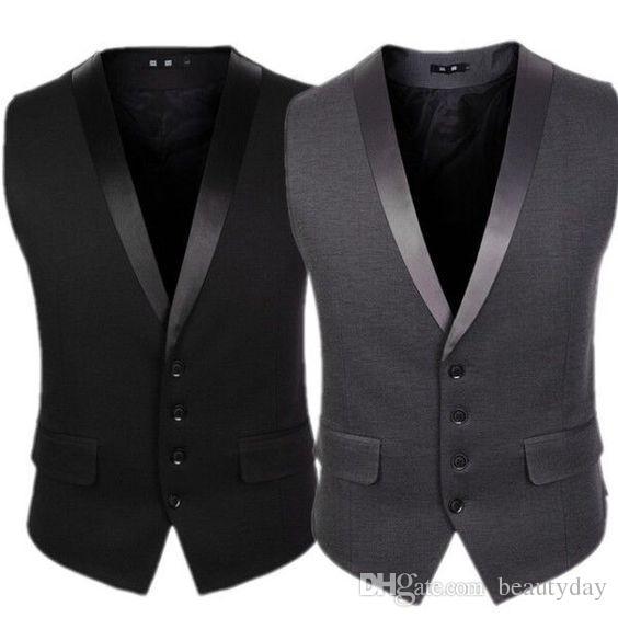 2020 Yeni Damat Yelekler Düğün Parti Groomsmen Yelekler için Slim Fit erkek Yelekler Artı Boyutu İngiliz Tarzı Kıyafeti Yelek Giymek İş Takım Elbise