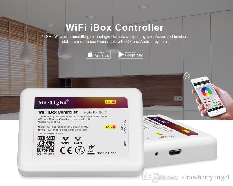FUT063 Mi lumière 6 W RGB + CCT Étanche LED Downlight CCT Lampe LED 100V ~ 240V DC app téléphone 2.4G télécommande panneau de contrôle Livraison gratuite