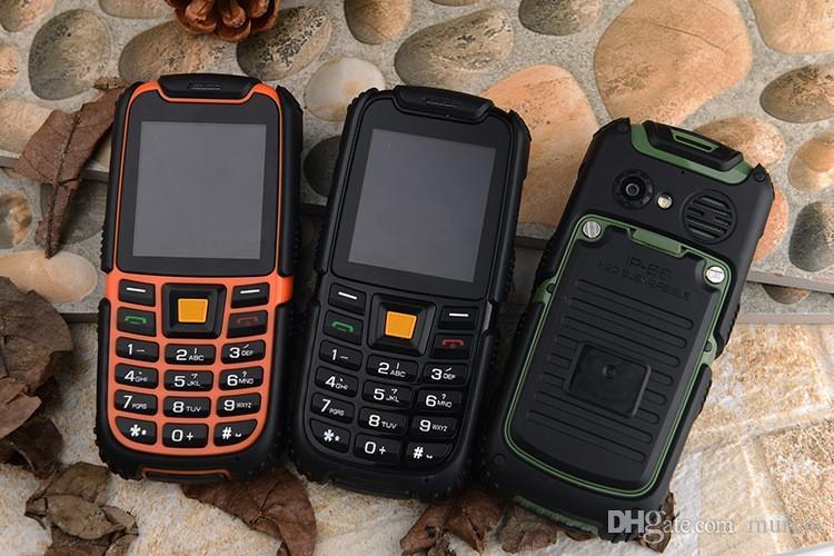 Téléphone S6 IP67 russe téléphone étanche 2500mAh longue durée de vie fort son téléphone antichoc téléphone extérieur Rugger