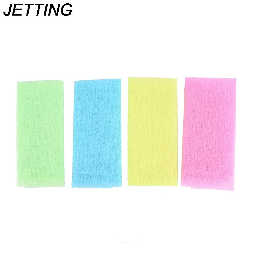 5pcs Nylon Japanese Exfoliating Beauty Skin Bath Shower Wash Cloth Towel Back Scrub Body Cleaning Washing Sponges& Scrubbers