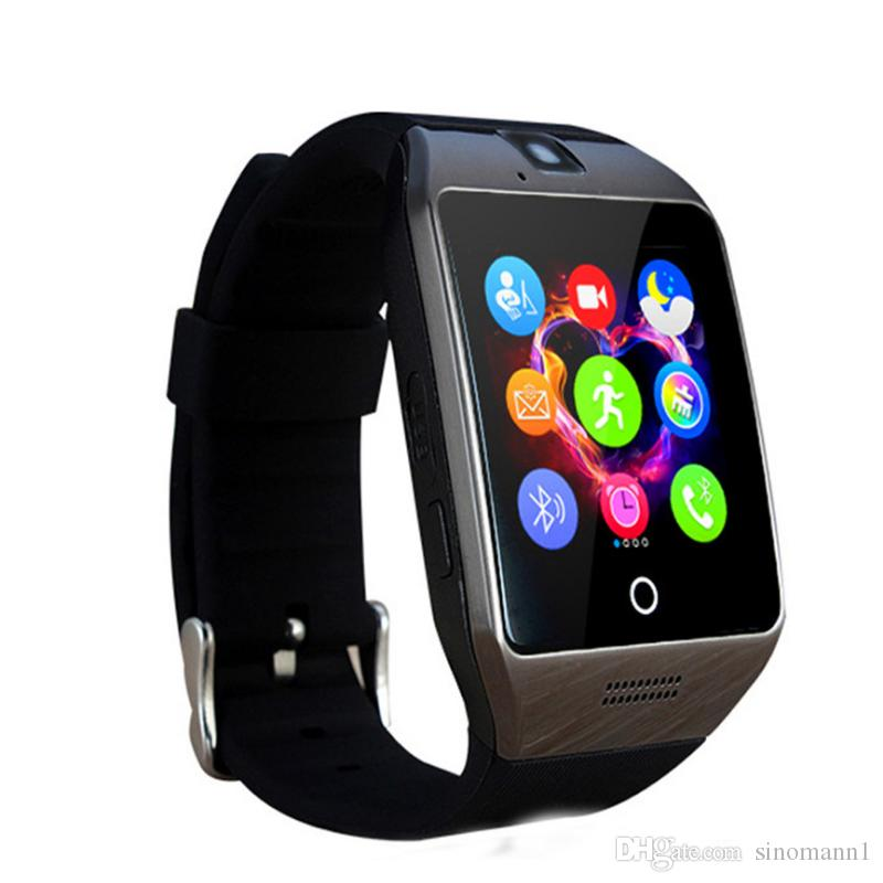 Q18 Passometer Smart watch with Touch Screen camera Support TF card Bluetooth smartwatch for Android IOS Phone