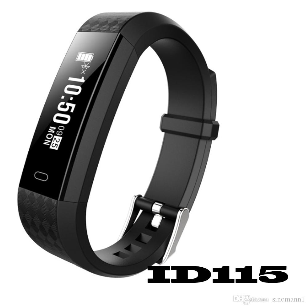 ID115 F0 Smart Bracelet Fitness Tracker Step Counter Wristband Sleep Monitor Activity Tracker Alarm Clock Vibration Wristband With Package
