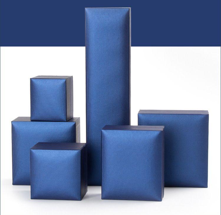 OEM boîtes-cadeaux fabriqués en chine de luxe jeselry boîtes-cadeaux également adaptés pour la boîte de montre bleu couleur 6 tailles livraison gratuite