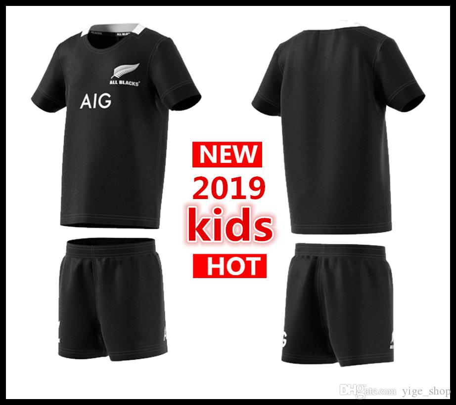official photos 2c81f 88785 2018 2019 New Zealand All Blacks Kids Mini Kit Home Rugby Jerseys Super  Rugby Shirt All Blacks Kids Jersey From Yige_shop, &Price; | DHgate.Com