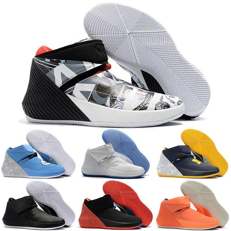 Jumpman Russell Westbrook Warum nicht Zer0.1 George Adams Spiegelbild North Carolina Basketball Schuhe Zero One Schwarz Weiß Grau