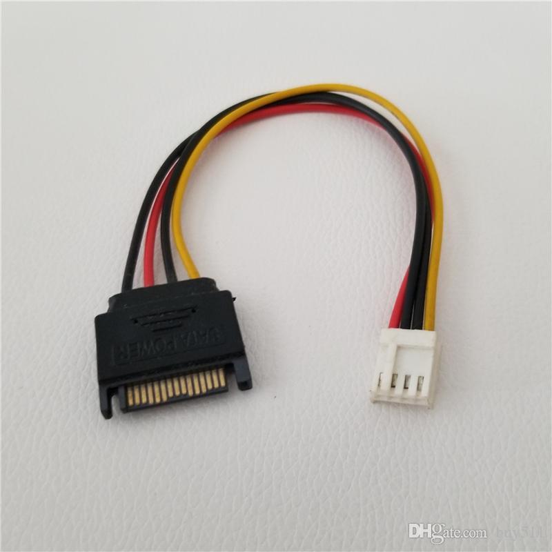 10 adet / grup SATA Kablosu 15Pin 4Pin FDD Disket Erkek Kadın Güç Kablosu için PC DIY için