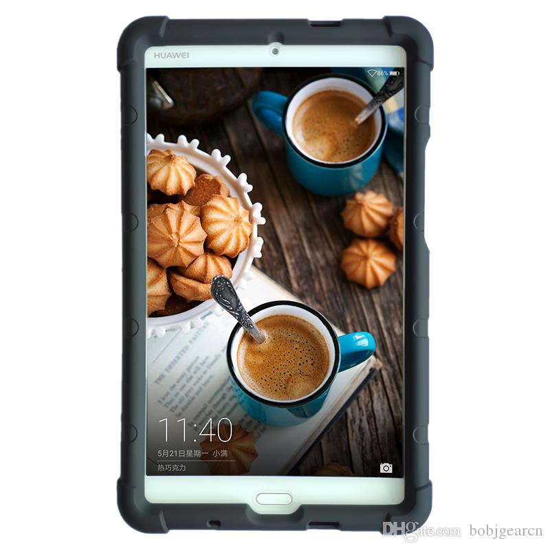 Huawei MediaPad M3 모델 BTV-DL09A / B / G BTV-W09 8.4 인치 태블릿 커버에 대한 MingsHore 실리콘 견고한 케이스
