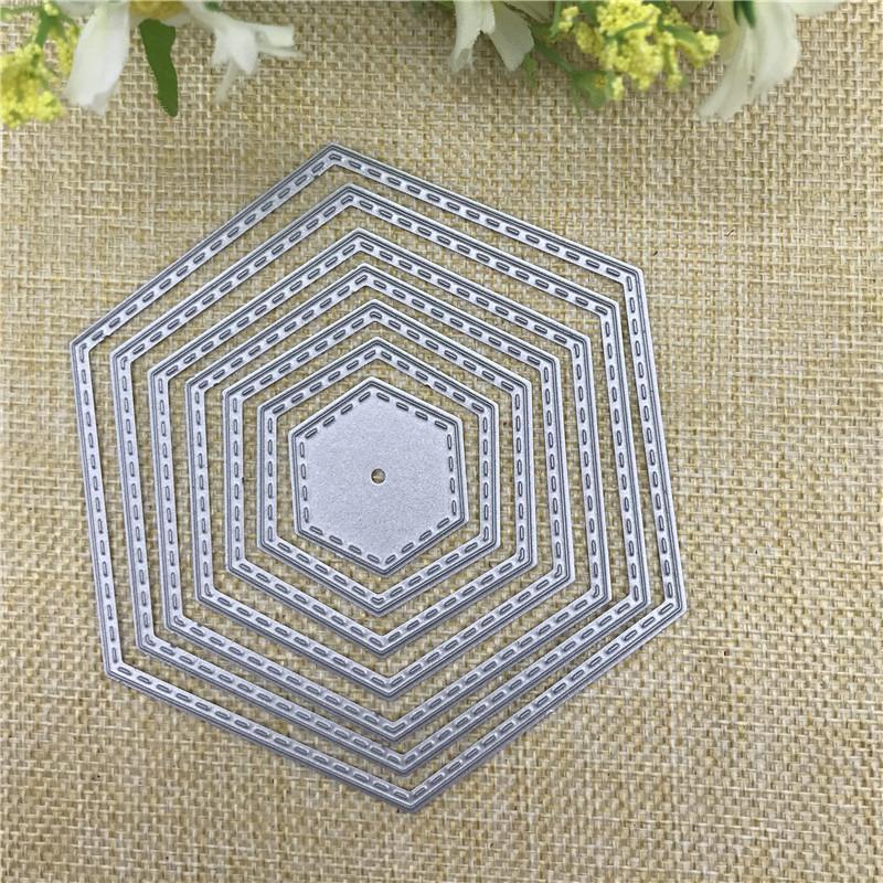 Polygon sterben Schnitte Metall Stanzformen in Scrapbooking Prägung Ordner DIY lustige Dekoration Hochzeit Scrapbooking Vorlage Handwerk kostenloser Versand