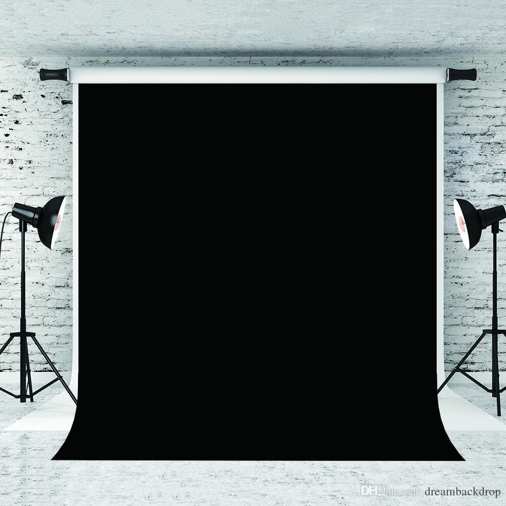 Мечта 5x7ft / 150x220cm Pure Black Портрет фоны для фотографа Фото Фон Prop Взрослых Фото Студии фонов