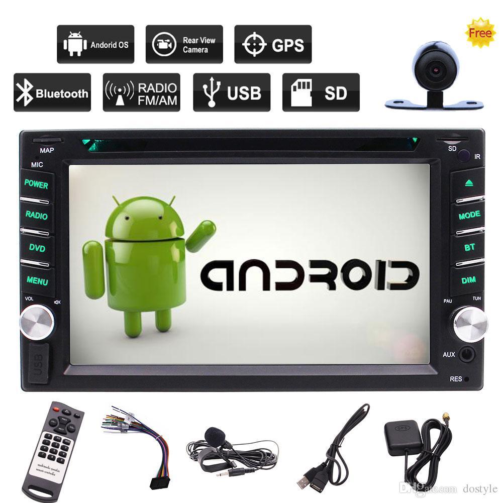 Android 6.0 Car Cámara Trasera Estéreo + 6.2 '' Pantalla Táctil Capacitiva Reproductor de CD y DVD del Coche Navegación GPS Wifi Bluetooth OBD2 DVR Enlace de espejo