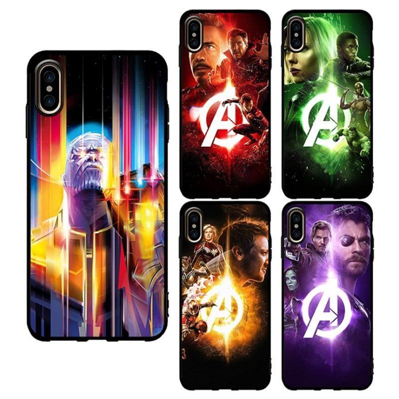 Avengers Marvel Hero Pour IPhone X XR XS Max 8 7 6 S 6 Plus Max Coque De Téléphone Mobile Coque Tempérée Proposé Par Opal, 1,86 € | Fr.Dhgate.Com