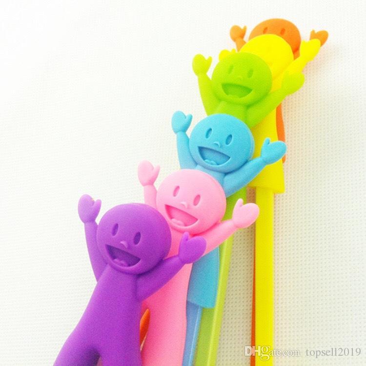 200 pairs çocuk Plastik Çubuklarını Çocuk Öğrenme Yardımcısı Eğitim Öğrenme Mutlu Plastik Oyuncak Chopstick Eğlenceli Bebek Bebek Acemi SN215
