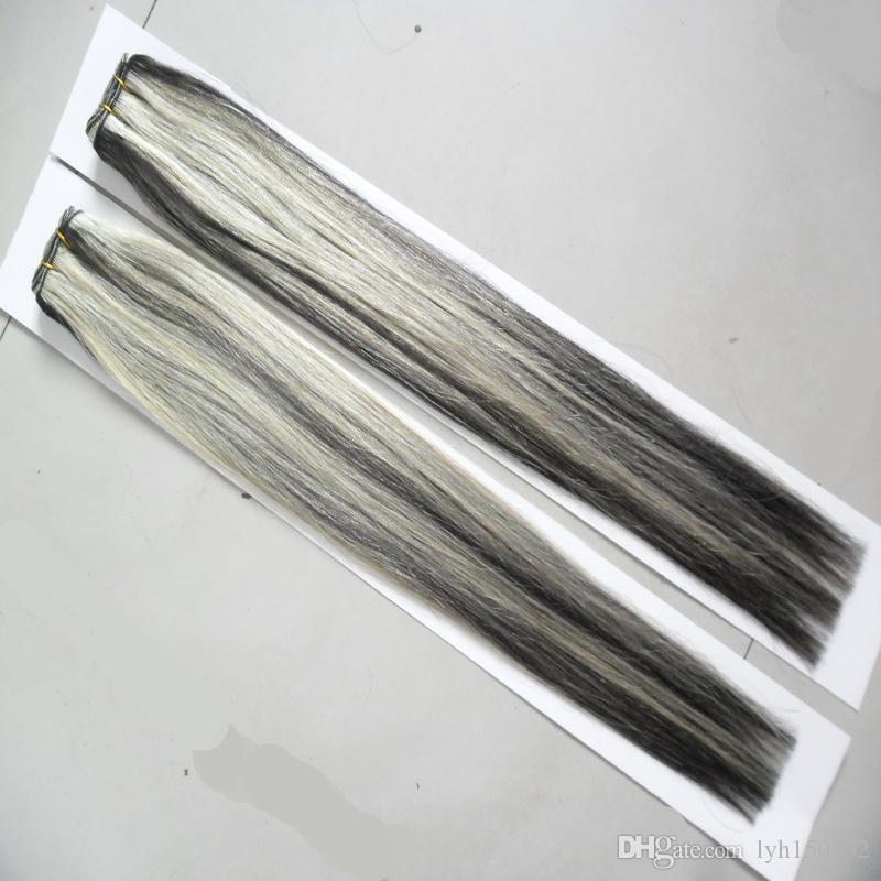 """P1B / 613 Brasileira Feixes de Cabelo Em Linha Reta 2 Peça 10 """"-26 polegada 100% Cabelo Humano Weave Bundles 200g Extensões de Cabelo Não Remy"""