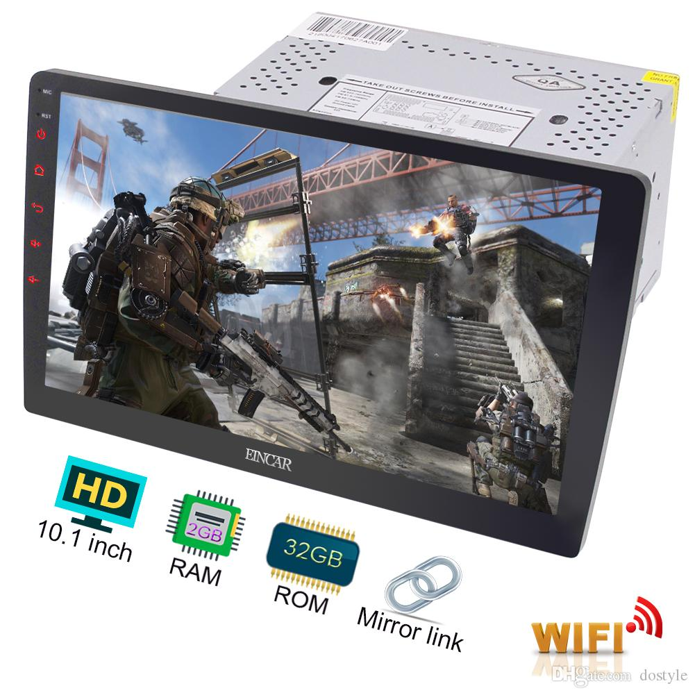 Android 7.1 Octa Core 32GB+2GB Double Din Car Stereo Radio 10.1'' GPS Sat WIFI Mirror Link Bluetooth Radio FM AM RDS