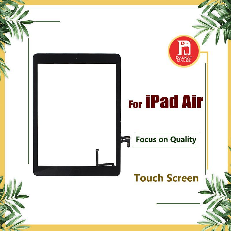 Para ar iPad 1 para ipad 5 digitador tela telas de toque conjunto de vidro com Home Button Adhesive Glue Sticker Peças de reposição A1474 A1475