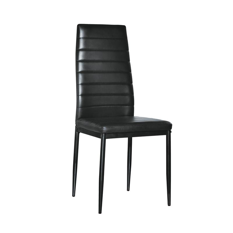 Prime 2019 High Back Modern Dining Chair Faux Leather Contemporary Dining Furniture Dropshipping From Tribull 100 41 Dhgate Com Caraccident5 Cool Chair Designs And Ideas Caraccident5Info