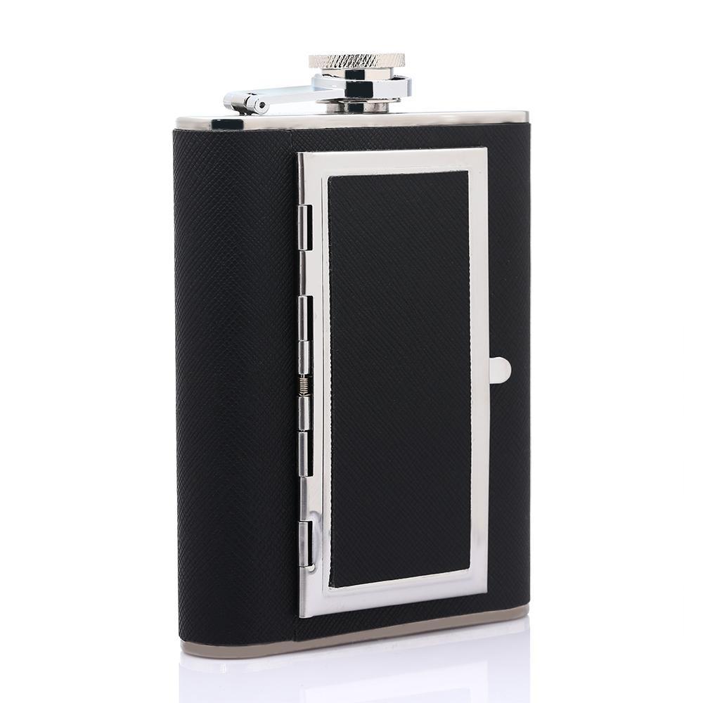 2017 Original 6oz Hip Flask Drinkware Alcohol Liquor Portable Stainless Steel Flagon Cigarette Case Dual-purpose Hip Flask