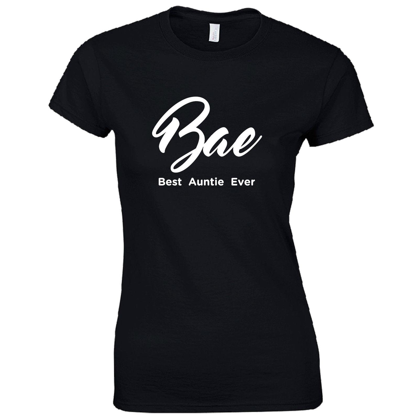 04291dbac BAE Best Auntie Ever Ladies Fitted T-Shirt - Funny Aunt Present Womens Gift  Top