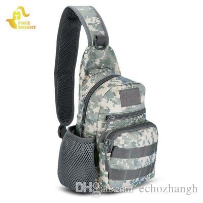 FreeKnight 800D Militärische Taktische Rucksack 5L Umhängetasche Molle Brust Pack Camping Wandern Camouflage Tasche Jagd Rucksack