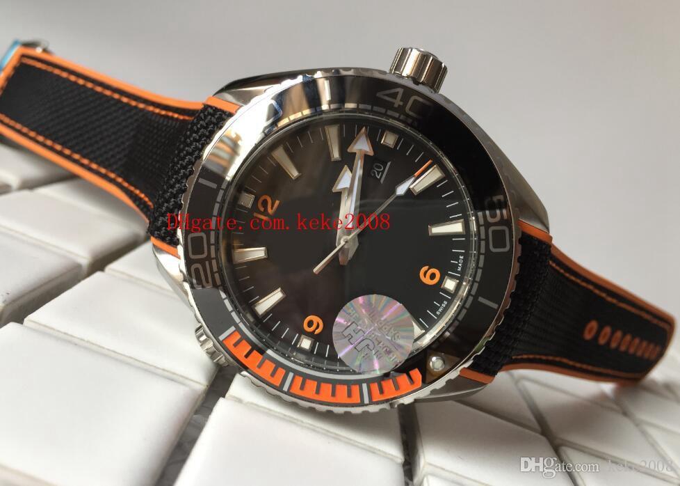 Luxo Top qualityWatch Fábrica Classic series Moda 42mm 45mm Planet Ocean 600 M Cerâmica Ásia CAL.8500 Movimento Automático Mens Relógios