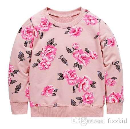 Девушки Толстовка для детей зимняя одежда Детские HoodiesSweatshirts цветочные животных аппликация малыша девушки толстовки дети пуловер