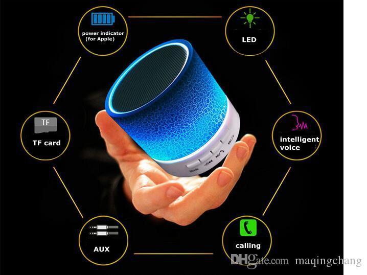 Mini altavoz bluetooth portátil inalámbrico de manos libres Subwoofer de audio / reproductor estéreo de alta fidelidad con puertos USB / AUX Navidad / cumpleaños / regalo de camping grande LW01