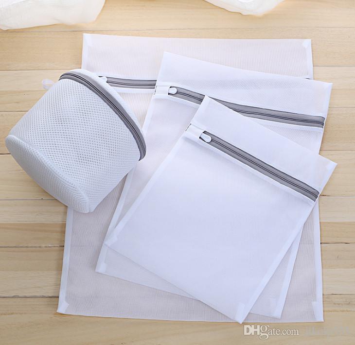 La dernière vente chaude épaisse maille fine buanderie sac de lavage de vêtements de nettoyage de vêtements épais sac de maille lavage sac personnalisé vente en gros
