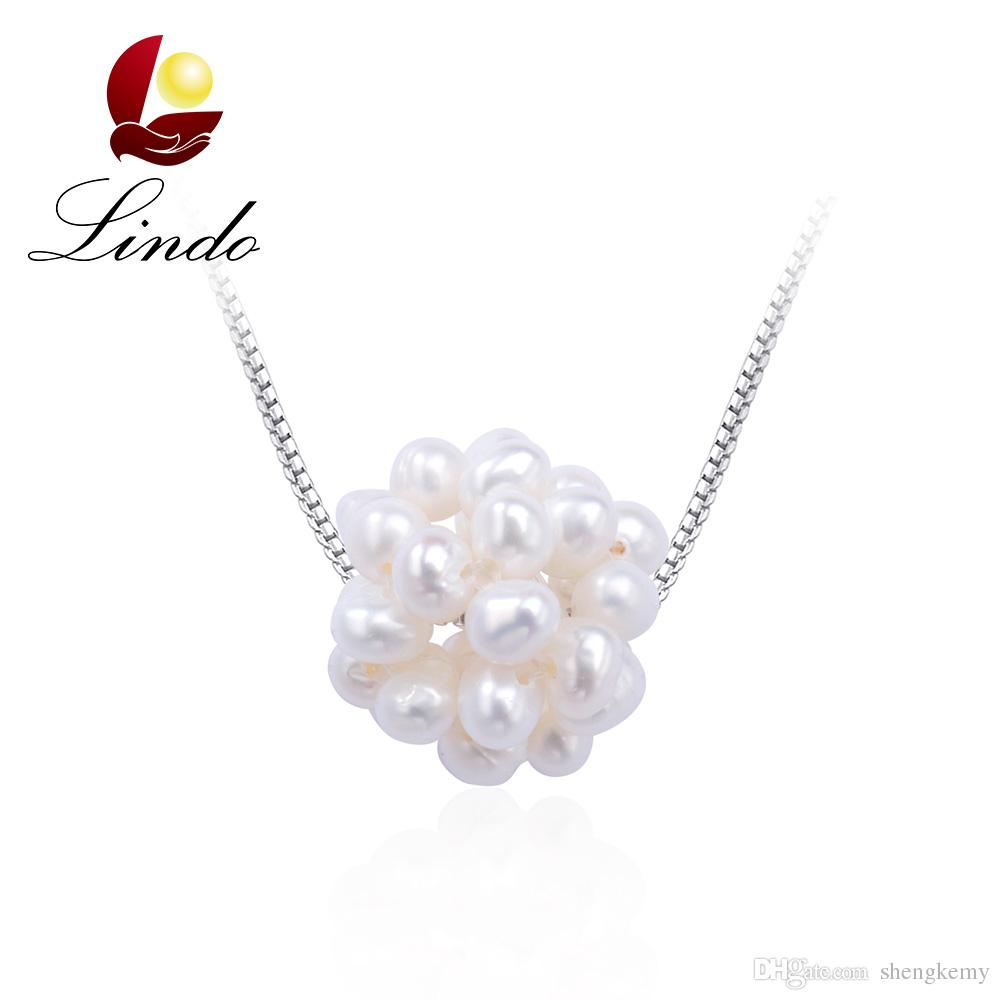 Faux Millennium Design Girls Pearl Necklace with Earrings