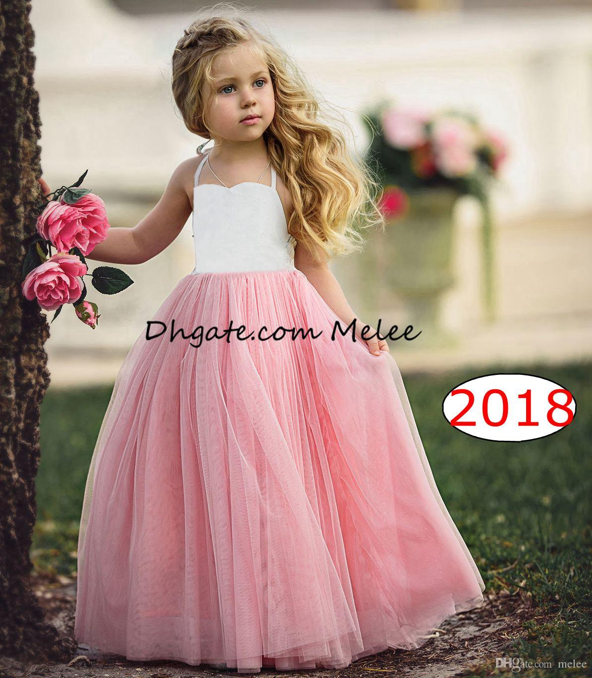 7e72757f1 1-6Y ins girls tutu dresses kids white top pink ruffle dresses girls vest  wedding dress baby costumes pricess dresses