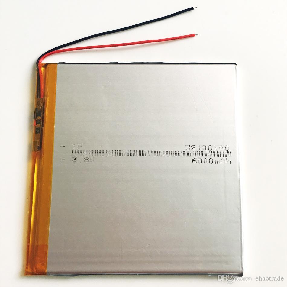 Modèle 32100100 3.7V 6000mAh Lithium Polymer Li-Po batterie rechargeable pour DVD PAD téléphone portable GPS banque d'alimentation Caméra E-books Recoder box TV