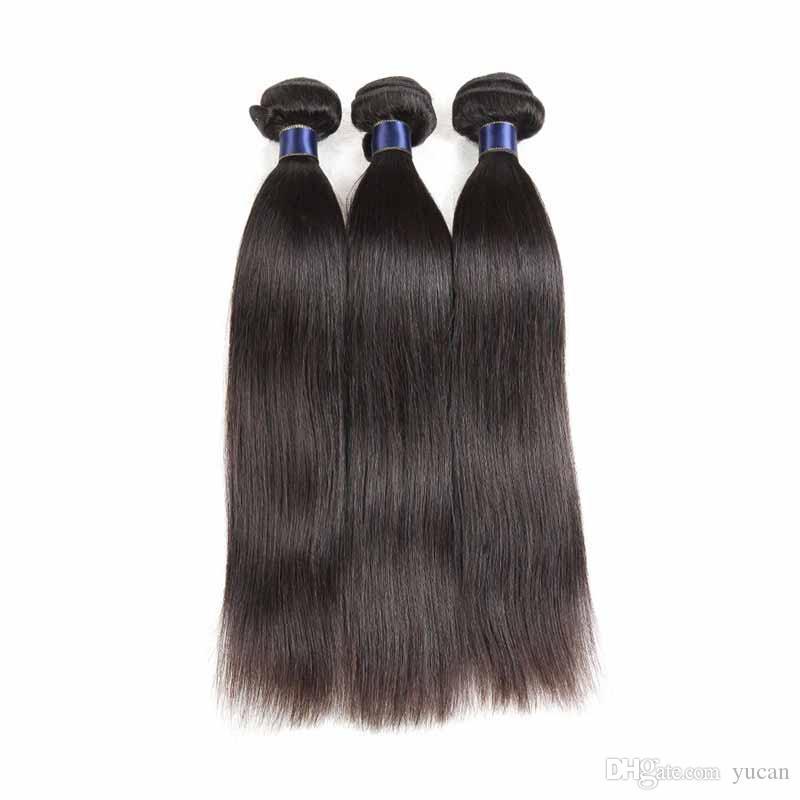 Il 100% dei capelli umani tesse le trame brasiliane dei capelli del Virgin estensioni diritte economiche di Remy dei capelli di colore naturale di stile diritto di 10-20 pollici