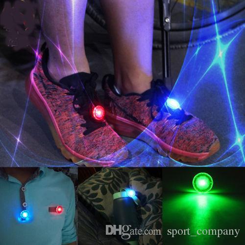 Mini Flash Shoe Clip LED Safety Warning Bike Cycling Light Outdoor Bicycle LED Luminous Night Running Shoe Safety Clips Free DHL