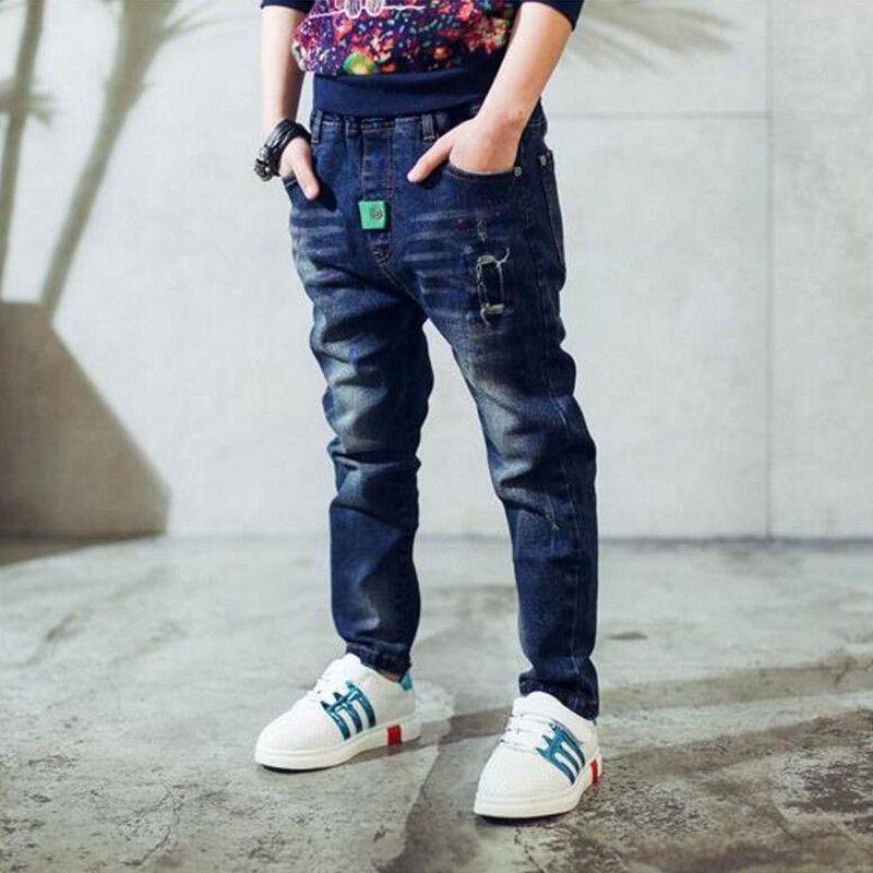 Prezent dla dzieci, Jeans Chłopiec dla dzieci Nosić modne styl i wysokiej jakości dżinsy dla dzieci, chłopcy zgrane dżinsy, 2 - 14 lat