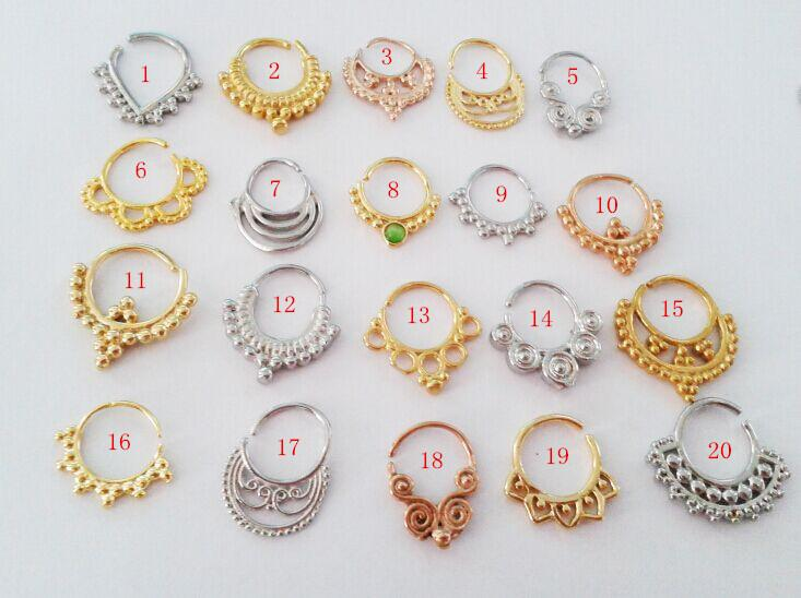 Free Shipping Dhl Mixed Styles 1 2mm 16g Pierced Nose Ring