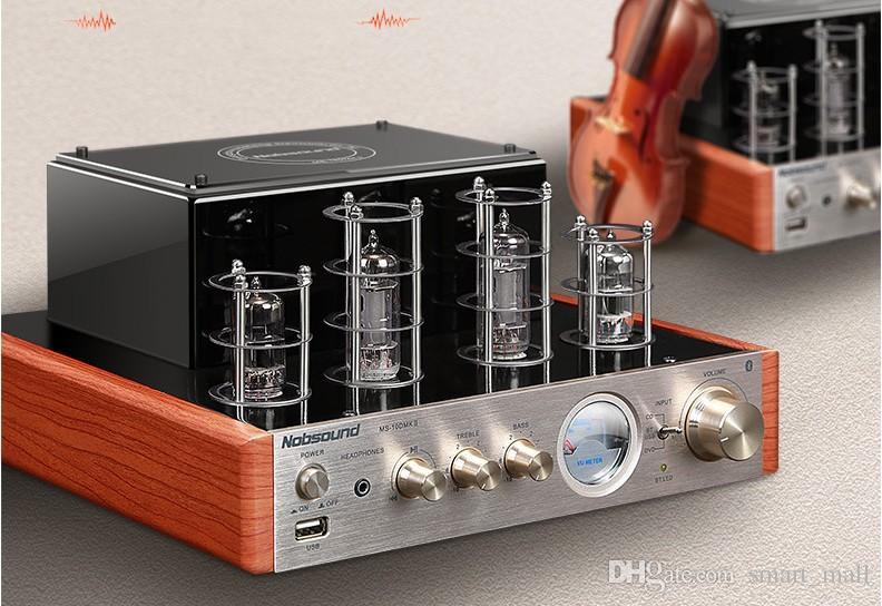Nobsound MS-10D MKII أنبوب مكبر للصوت ستيريو ايفي السلطة مكبر للصوت 25W * 2 فراغ أنبوب AMP دعم بلوتوث و USB 110V أو 220V LLFA