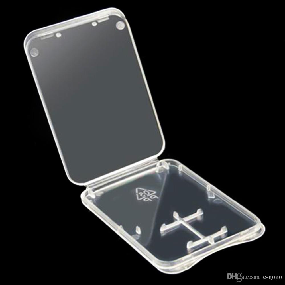 2000pcs / lot 2 in 1 Plastik-Malereikarten-Fall-Box TF SD Micro SD-Karten-Verpackungsbox