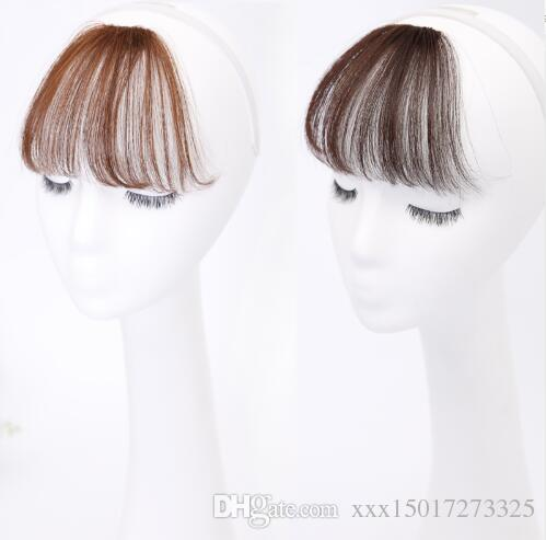 Women Synthetic Clip In Bangs Fringe Hair Extensions Front on Synthetic Hairpieces Blonde blunt bang fake bangs hair women