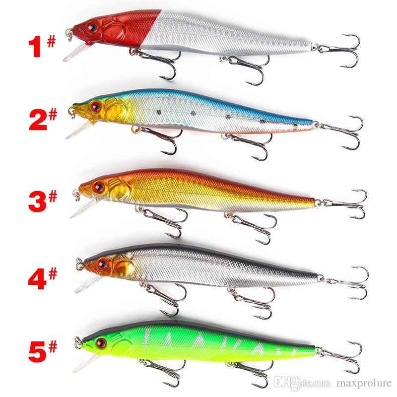 1pc 14cm//23g minnow fishing lures plastic baits hard lures fishing hooks ZJP