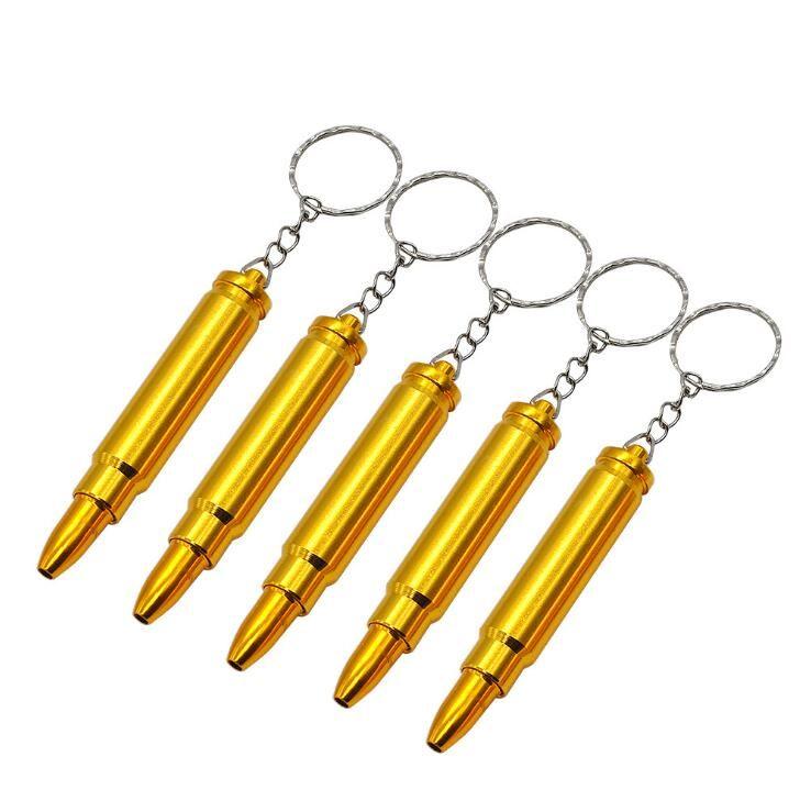 중간 총알 알루미늄 금속 흡연 파이프 Shisha 담배 담배 손 스푼 스크류 어뢰 병 열쇠 고리 오일 장비 파이프 7 스타일
