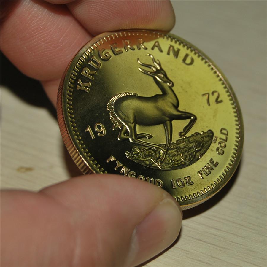 الحرة الشحن 5pcs / الكثير، 1972 Krugerrand جنوب أفريقيا سبائك الذهب 1 أوقية كوين - جمع كبير