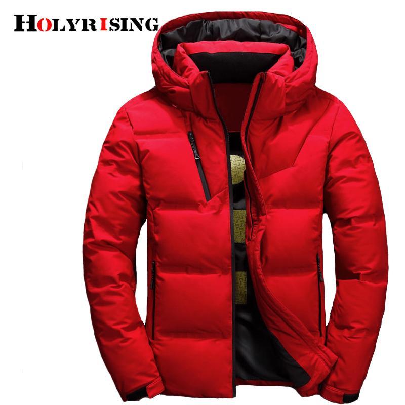 Мужчины вниз пальто piumino uomo inverno 3 Цвет doudoune куртка мужчины с капюшоном ветрозащитный верхняя одежда повседневная Белый вниз пальто 18518-5 C18111901
