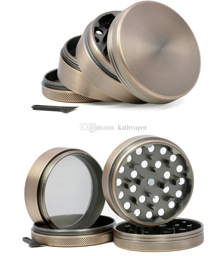 63mm zinc alloy grinder 4 parts Cnc Teeth Tobacco Dry Herb Grinders for Smoking Space Case Grinder easy clear free shipping
