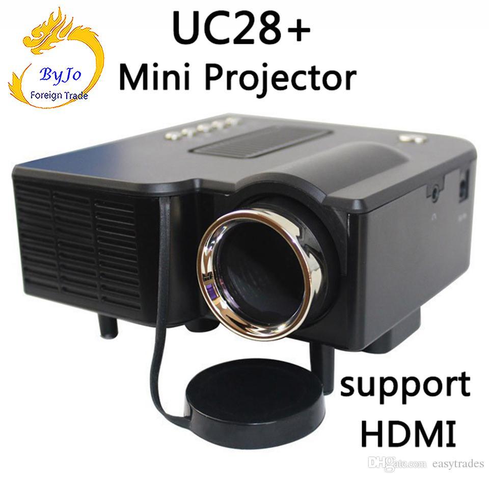 UNIC Multidimension UC28 + casa mini projetor LED Computador TV flash USB cartão SD e projetor de DVD projetor de vídeo