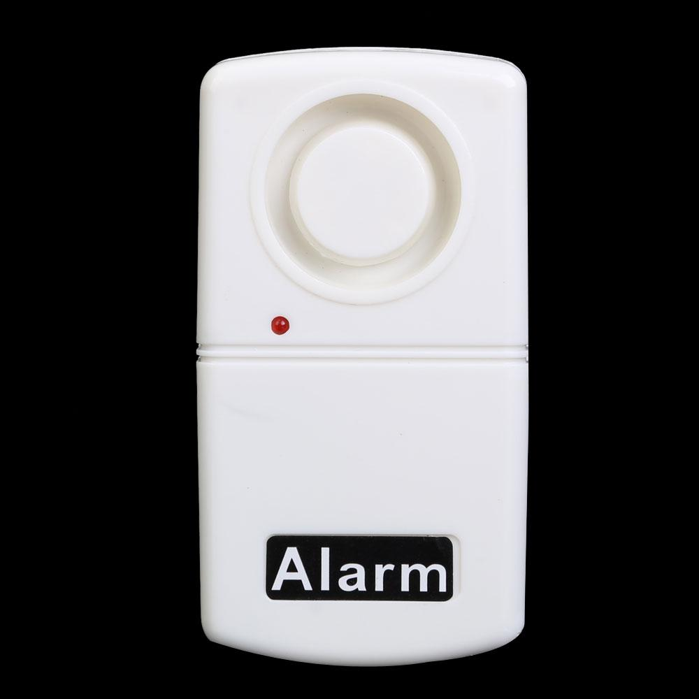 New Alarm systems White Wireless Window Door Vibration Alarm Home Security System 110dB Siren Sound