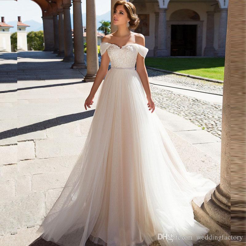 Beach Wedding Dresses a Line