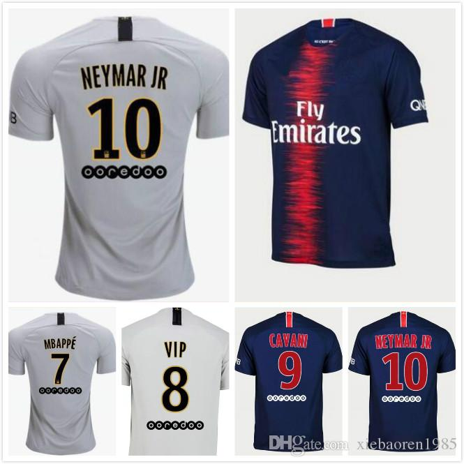best sneakers 36782 bdcc3 2019 7 Mbappe Psg Maillots Soccer Jersey 18 19 Home Maillot De Foot 2018  2019 CAVANI DI MARIA PASTORE Survetement Away Kit Football Shirts From ...